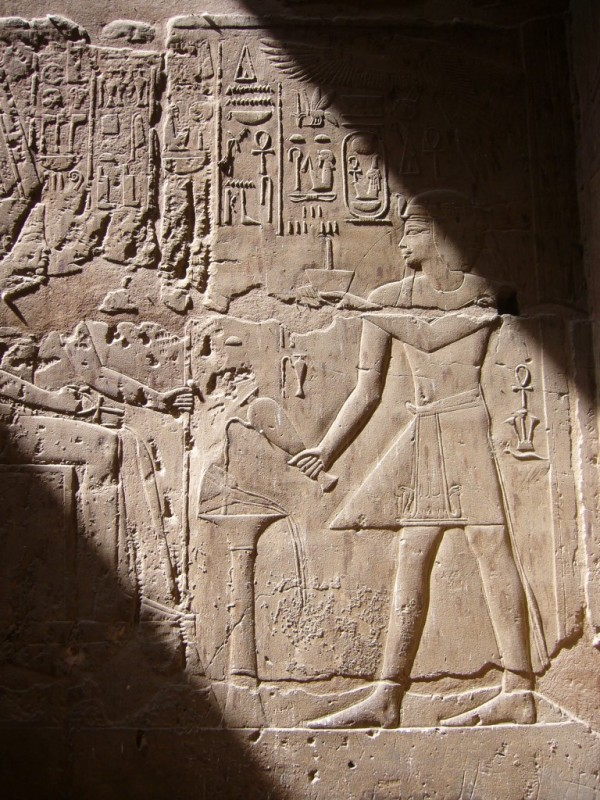 Temple carvings, Luxor, Egypt