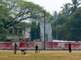 A game of cricket in Cochin.