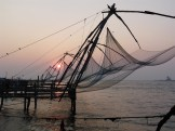 The Chinese fishing nets in Cochin.