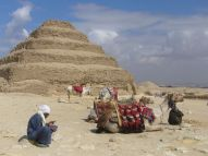 Pyramid of Djoser with camel, south of Cairo