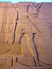Detail from temple at Aswan, Egypt
